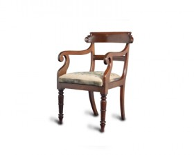 MAHOGANY ELBOW CHAIR