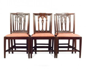 six-mahogany-dining-chairs