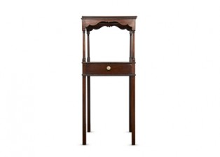 GEORGE III MAHOGANY SQUARE WASH STAND/NIGHT TABLE – A9616